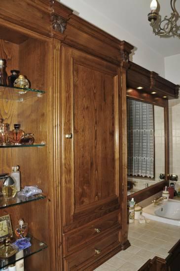 Mobile-bagno-in legno- con lesene design esclusivo fabbrica di ...