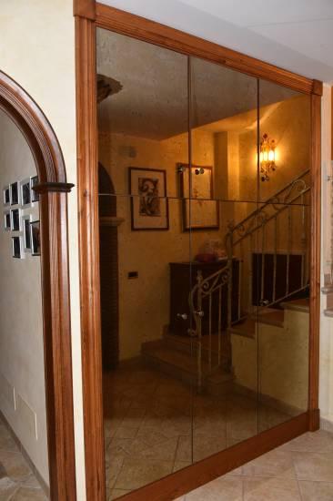 Armadio a specchio per ingresso in legno su misura - Armadio a specchio ...