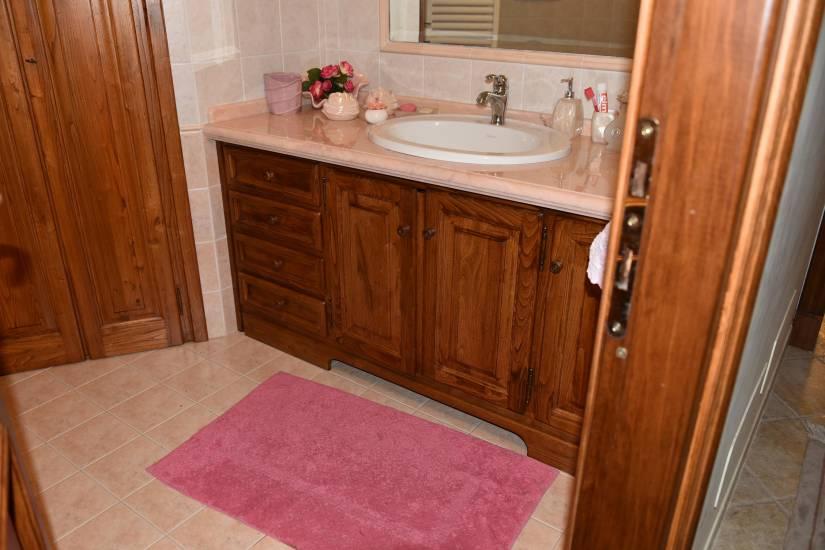 Mobile bagno marmo rosa in legno su misura fabbrica di - Mobile bagno marmo ...