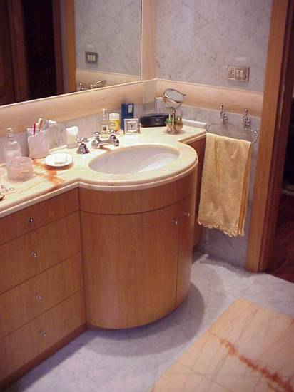 Mobile bagno tondo di lusso in legno design esclusivo - Mobili bagno lusso ...