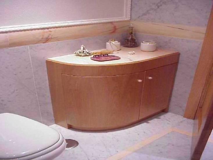 Mobile bagno tondo di lusso in legno design esclusivo - Bagni esterni in legno ...