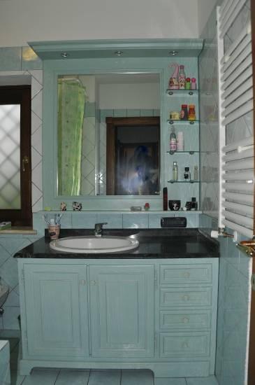 Mobile- bagno- in legno classico-verde acqua design ...