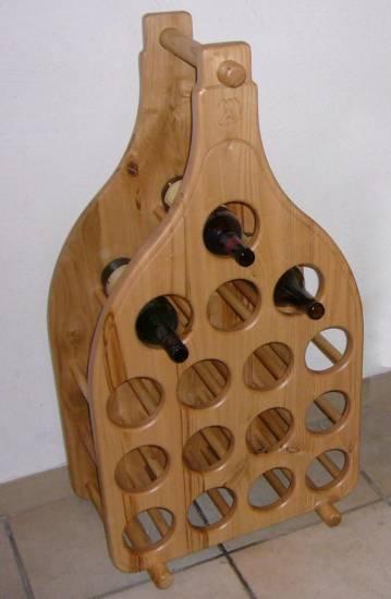 Bottigliera in legno artigianale 1 design esclusivo - Oggetti di design in legno ...