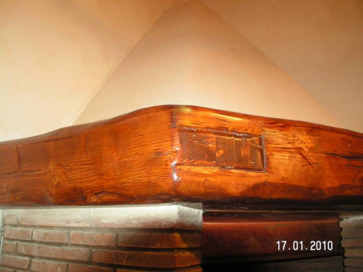 Rivestimento camino Trave 2 legno fabbrica di Rivestimenti su misura a Roma