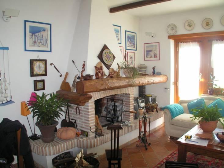 Soggiorno Design Camino: Stock photo open plan design for living ...