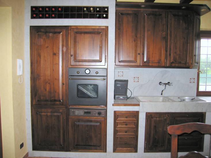 Cucina muratura 4 design esclusivo in legno fabbrica di ...
