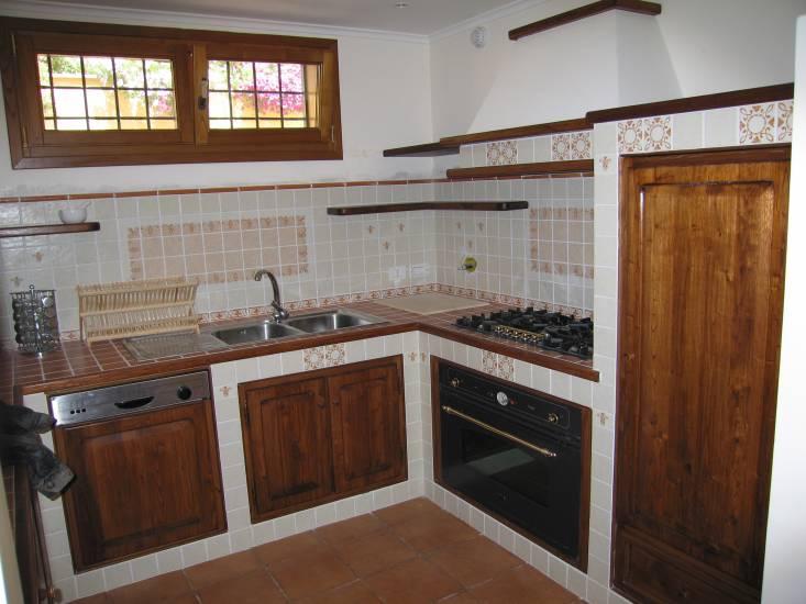 Cucina muratura 6 design esclusivo in legno » Stile muratura