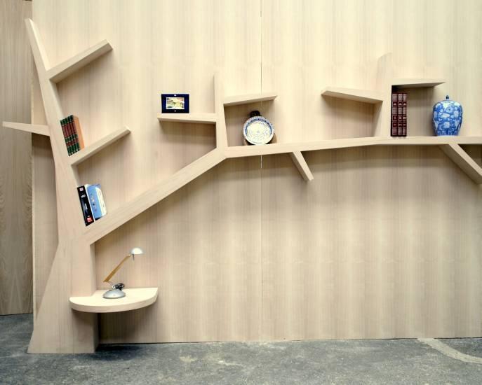 Libreria Albero Di Design In Legno Artigianale Su Misura Fabbrica Di Zona Giorno Su Misura A Roma