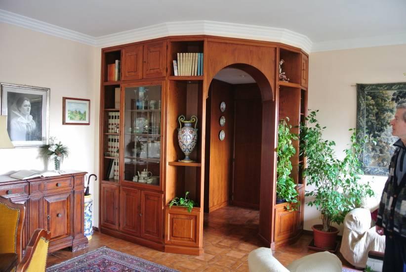 Libreria divisoria 4 in legno fabbrica di zona giorno su misura a roma