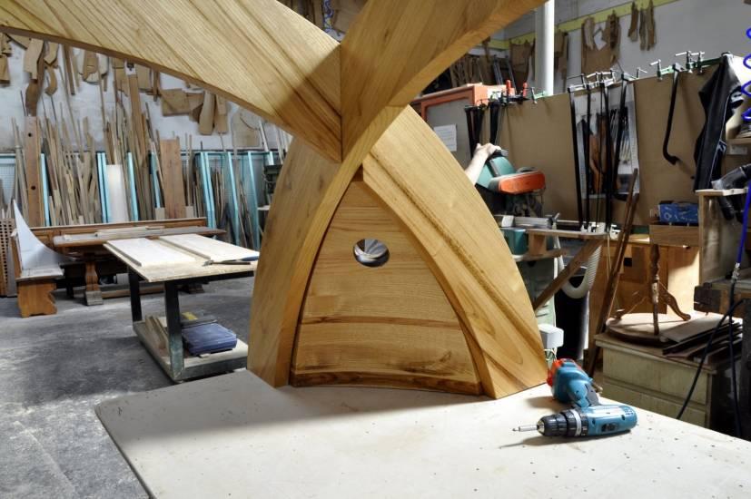 Libreria cupola su misura legno design esclusivo fabbrica - Oggetti di design in legno ...