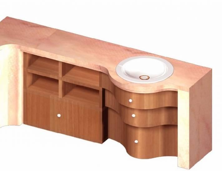 Mobile bagno in legno cassetti scalare design esclusivo - Bagni esterni in legno ...