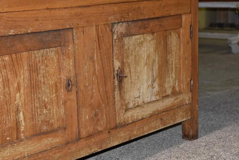 Credenza Arte Povera Antica : Restauro madia antica in legno fabbrica di zona giorno su misura