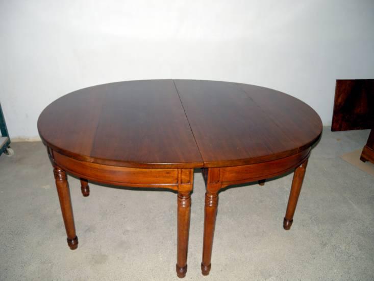 Restauro Tavolo Ovale Antico In Legno Fabbrica Di Zona