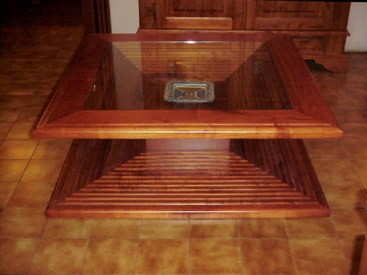 Tavolo salotto in legno artigianale 1 design esclusivo - Oggetti di design in legno ...
