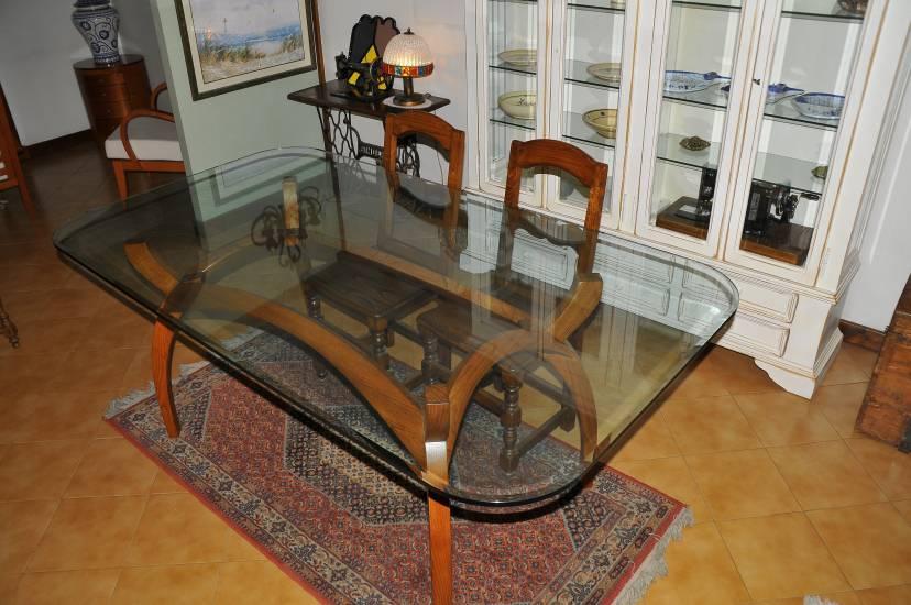 Tavolo cristallo legno fabbrica di zona giorno su misura a roma - Tavolo cristallo rotto ...