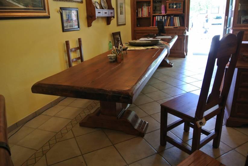 tavolo legno castagno 4 metri e 50 cm fabbrica di zona