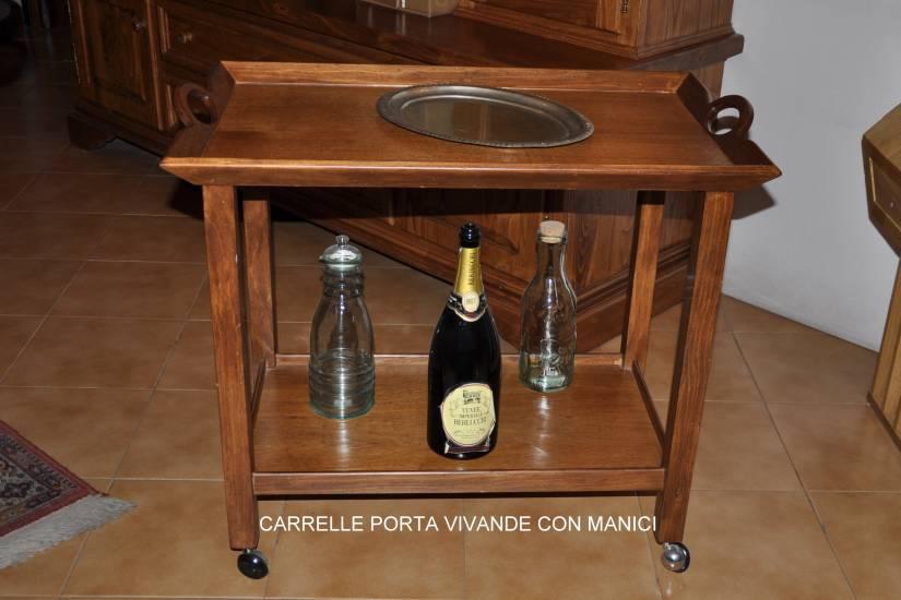 Carrello porta vivande in legno con manici fabbrica di - Carrello portavivande design ...