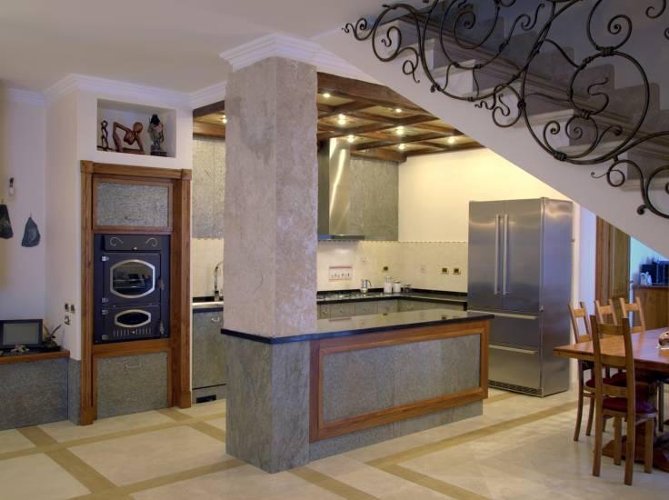 Cucina pietra moderna design esclusivo in legno fabbrica di cucine su misura a roma - Cucina moderna design ...