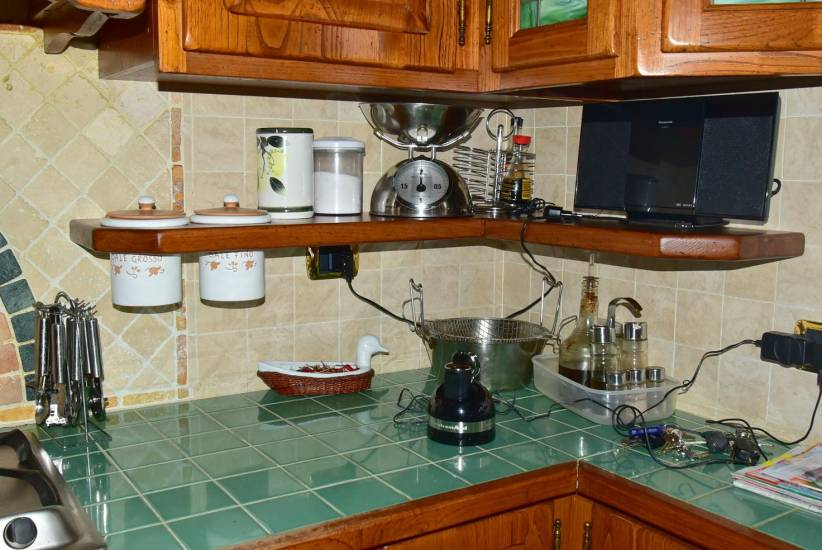 Mensola porta spezie in legno artigianale fabbrica di - Mensola porta piatti ...