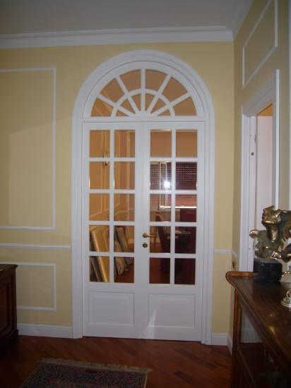Porta a vetri arco laccata design esclusivo in legno - Porte ad arco ...