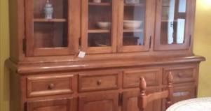 Credenza della nonna in legno massello di castagno fabbrica di zona giorno su misura a roma - Mobili in castagno massello ...
